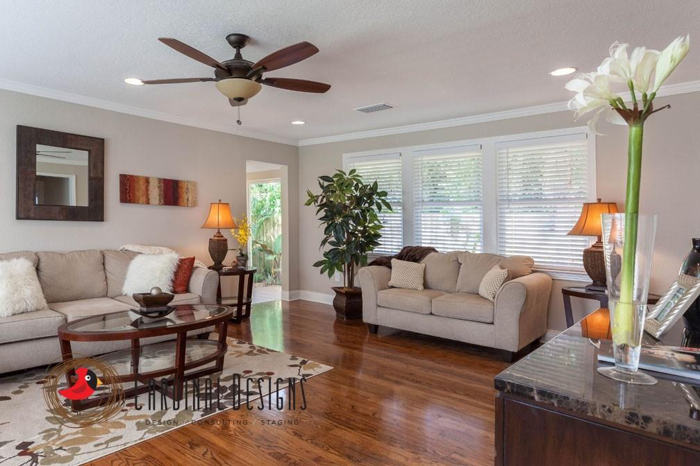 Living Room Staging Remodelling Stunning Branch Street Seminole Heights Fl  Staging & Remodel  Cardinal . 2017