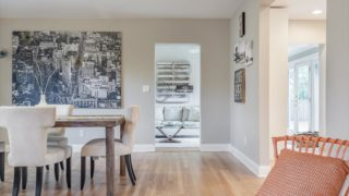 Staged Dining Area
