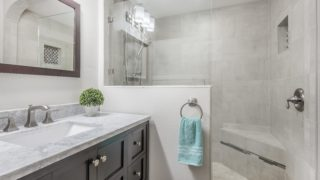 Master Bathroom staged by Cardinal Designs