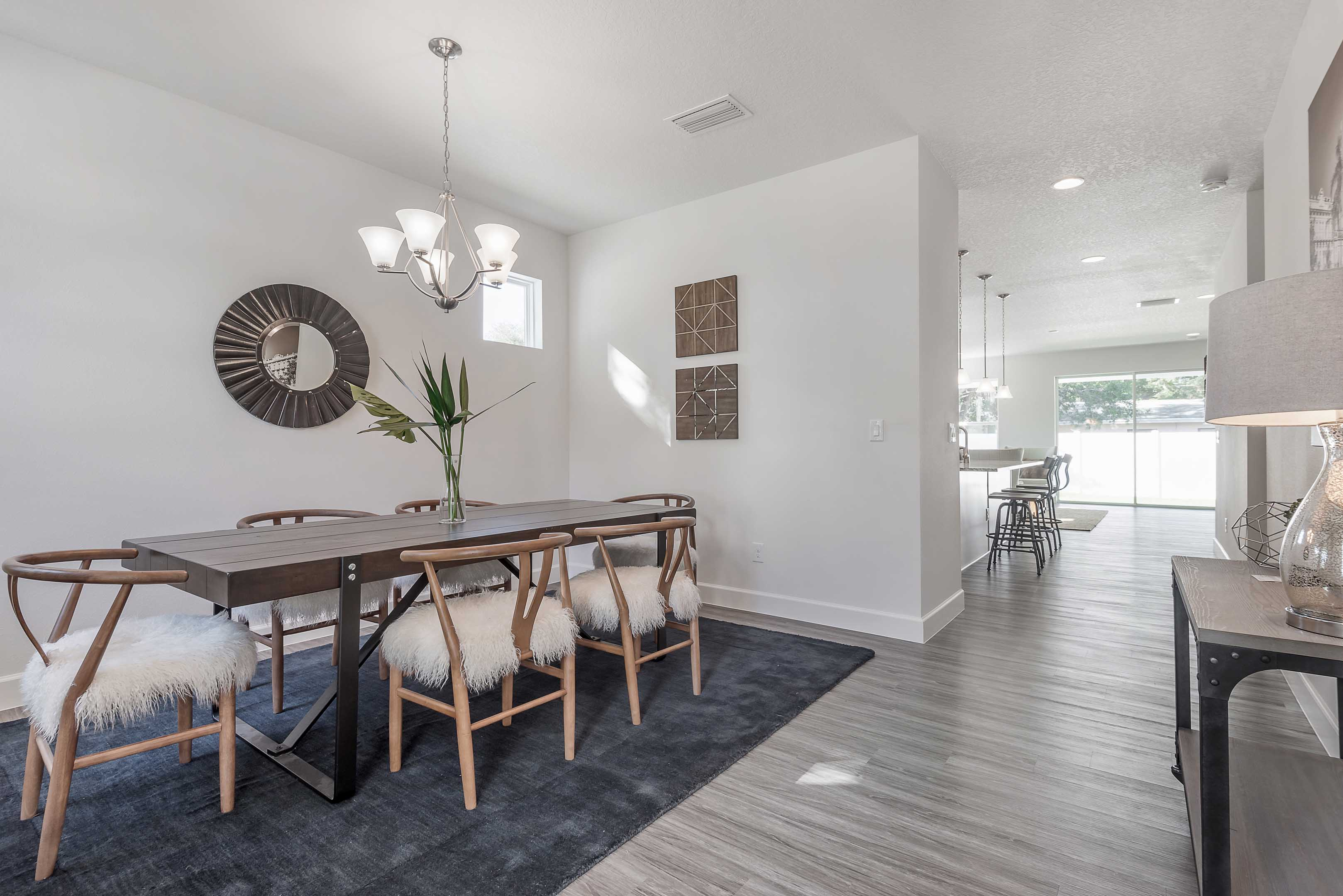 Trendy Classic Model Home With Hints Of Industrial